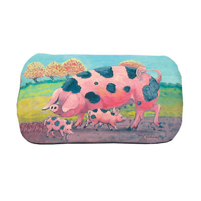 Leather Irish Glasses Case with Pigs Image