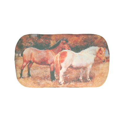 Leather Irish Glasses Case with Ponies Image