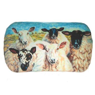 Leather Irish Glasses Case with Sheep Image