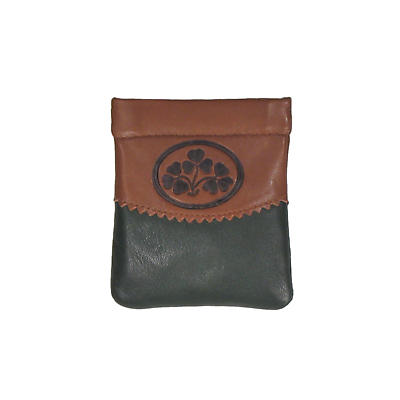 Two Tone Leather Snap Purse - Shamrock Spray