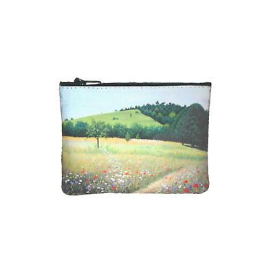 Leather Small Top Zip Purse - Irish Meadow