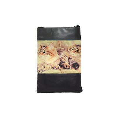 Leather Shoulder Bag - Cats