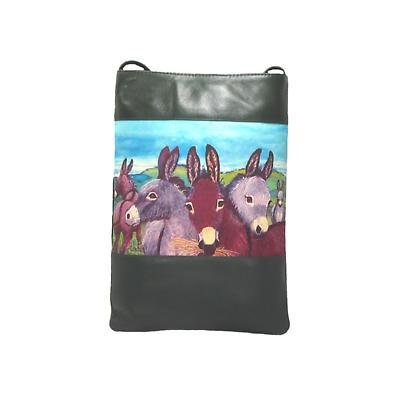 Leather Shoulder Bag - Donkeys