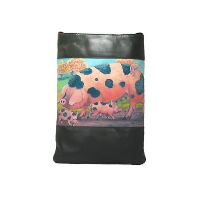 Leather Shoulder Bag - Pigs