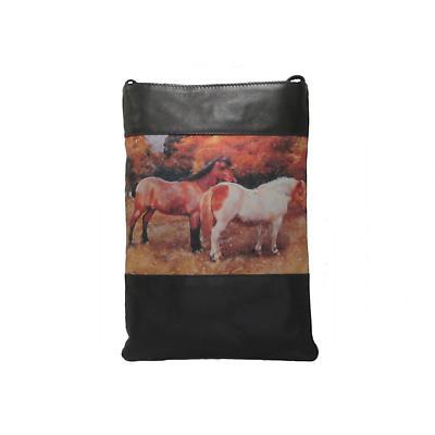 Leather Shoulder Bag - Ponies
