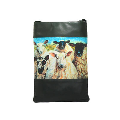 Leather Shoulder Bag - Irish Sheep