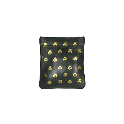 Green Leather Snap Purse - All Over Shamrock