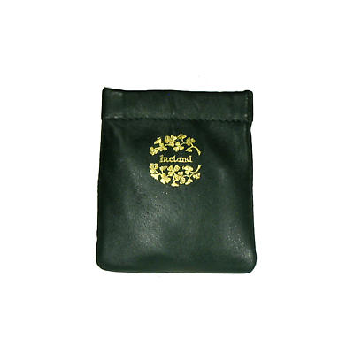 Green Leather Snap Purse - Ireland and Shamrocks