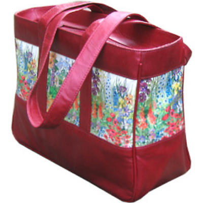 Leather Tote Bag - Summer Flowers