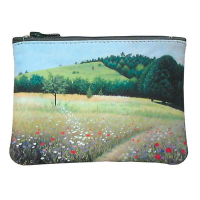 Leather Top Zip Purse - Irish Meadow