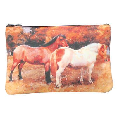 Leather Top Zip Purse - Ponies