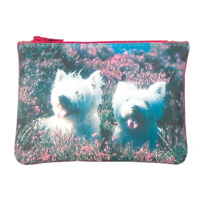 Leather Top Zip Purse - Terriers
