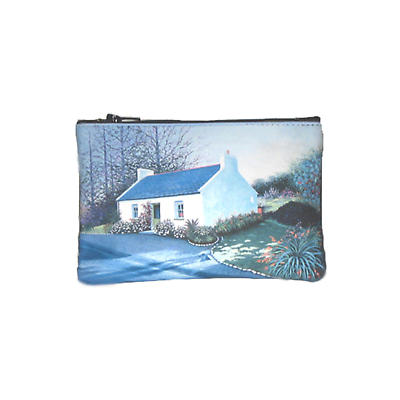 Leather Top Zip Purse - Irish Cottage