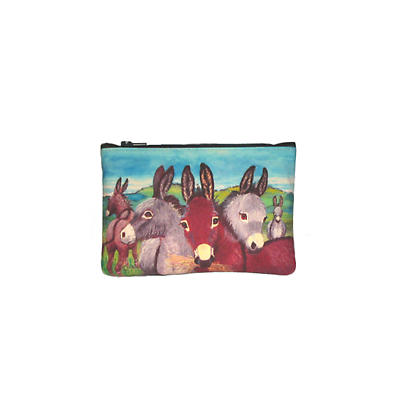Leather Top Zip Purse - Donkeys