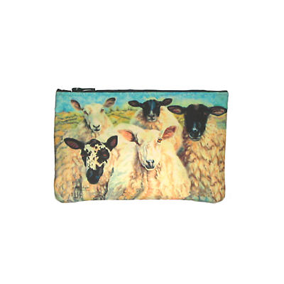 Leather Top Zip Purse - Irish Sheep