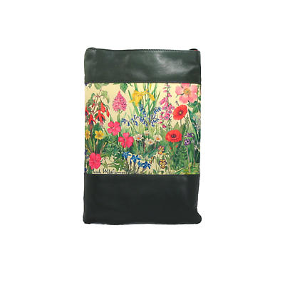 Leather Shoulder Bag - Wildflowers
