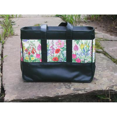 Leather Tote Bag - Wildflowers