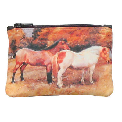 Leather Small Top Zip Purse - Ponies