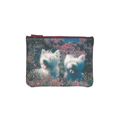 Leather Small Top Zip Purse - Terriers
