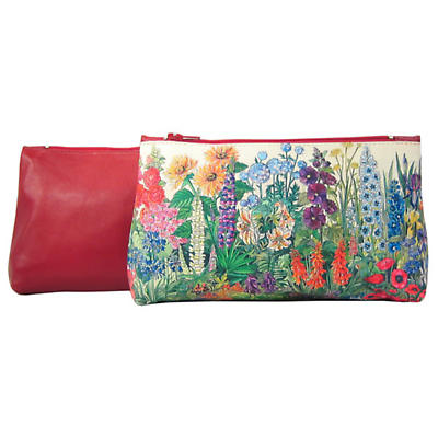 Leather Cosmetic Bag - Summer Flowers