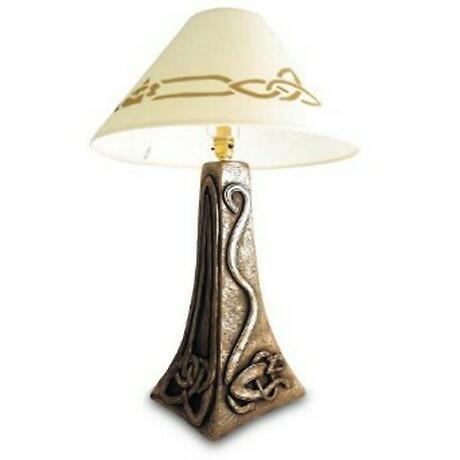 Rynhart Bronze Lamp - Celtic Wolfhound Lamp by Jeanne Rynhart
