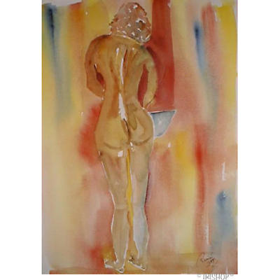 Marion's Ablutions - A painting by Roger Cummiskey
