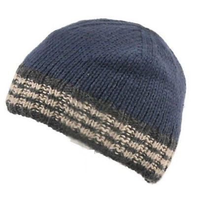 Irish Hat - Ribbed Wool Mens Hat Navy