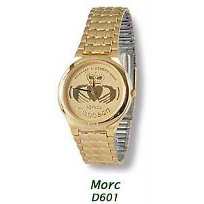 """Morc"" Gold Plated Claddagh Watch"