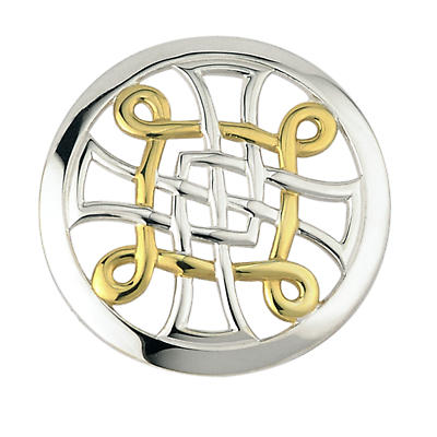 Celtic Brooch - Two Tone Celtic Knot Brooch