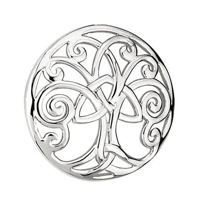 Rhodium Celtic ' Tree Of Life' Brooch
