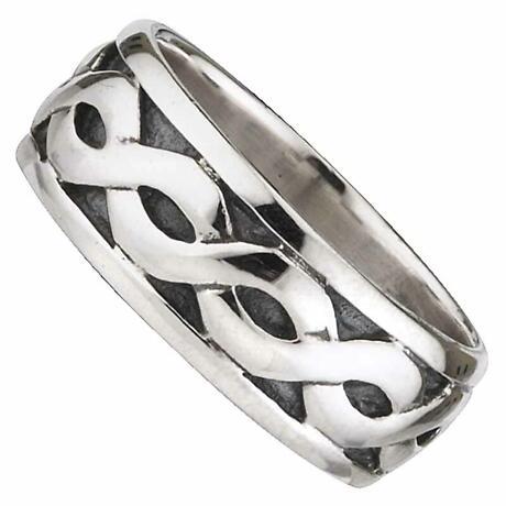 Celtic Ring - Men's Sterling Silver Wide Celtic Band