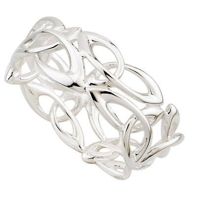 Irish Ring - Sterling Silver Fusion Celtic Trinity Knot Ring