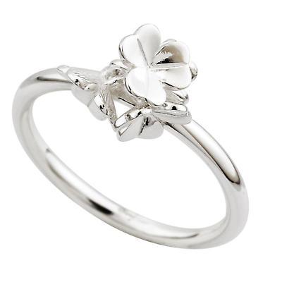 Irish Ring - Sterling Silver Fusion Ladies Shamrock Ring