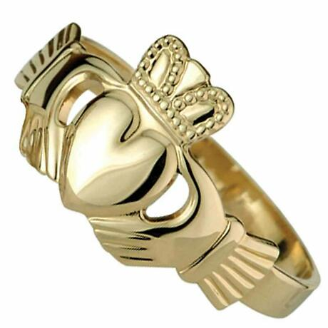 Claddagh Ring - Maids 10k Yellow Gold Claddagh Ring