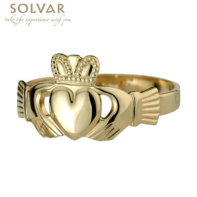 Claddagh Ring - Men's 14k Yellow Gold Claddagh Ring