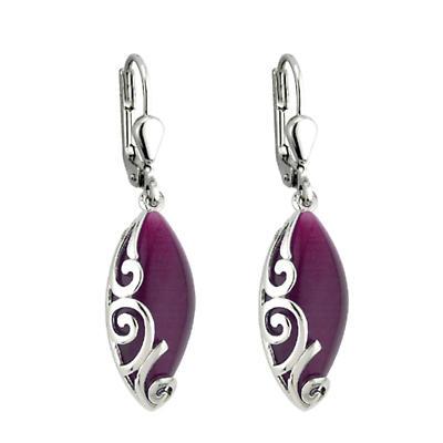 Celtic Earrings - Purple Oval Celtic Earrings