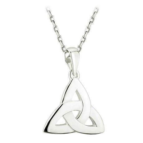 Celtic Pendant - Sterling Silver Trinity Knot Pendant with Chain