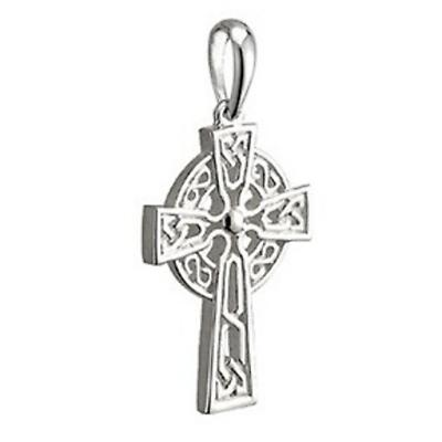 Sterling Silver Tiny Filagree Celtic Cross Pendant On a Chain