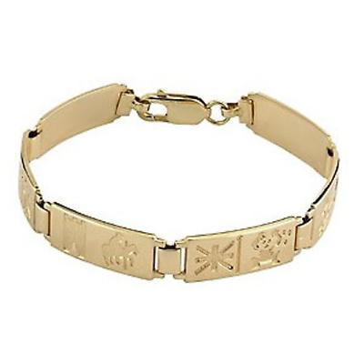 14k Gold History of Ireland Bracelet