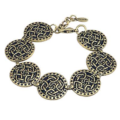 Irish Bracelet - Four Celtic Heart Love Knot Bracelet Gold Tone