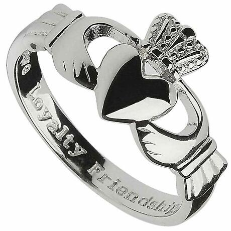 "Claddagh Ring - Men's Sterling Silver ""Love, Loyalty, Friendship"" Claddagh Comfort"