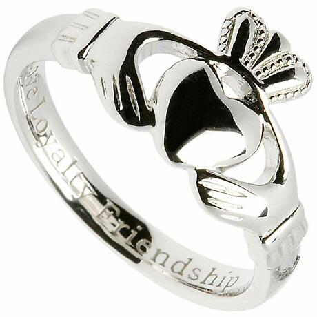 "Claddagh Ring - Ladies Sterling Silver ""Love, Loyalty, Friendship"" Claddagh Comfort"