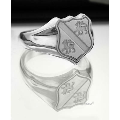 Irish Rings - Sterling Silver Family Crest Shield Ring