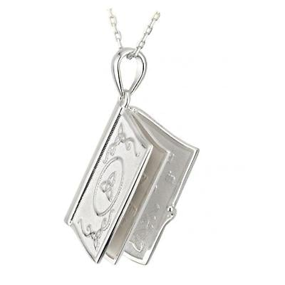 Sterling Silver Irish Blessing Prayer Book Pendant with Chain