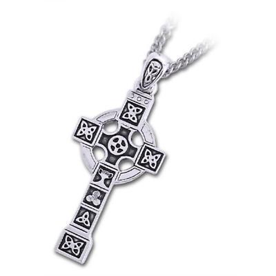 Celtic Pendant - Pewter Celtic Cross Pendant with Chain