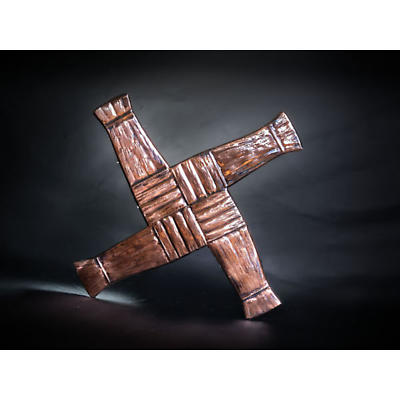Copper St. Bridget's Cross Wall Plaque