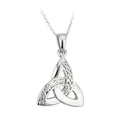 Celtic Pendant - Sterling Silver Celtic Trinity Knot Pendant with Chain