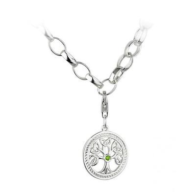 "Celtic Bracelet - Sterling Silver ""Tree Of Life"" Charm Bracelet"
