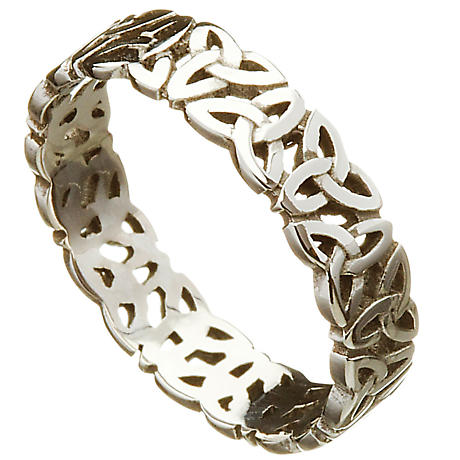 Irish Wedding Ring - Celtic Trinity Love Knot Mens Wedding Band