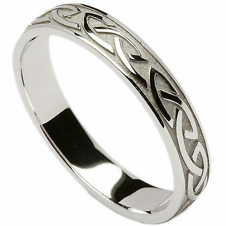 Irish Wedding Ring - Celtic Knotwork Ladies Wedding Band